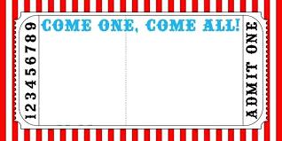 Carnival Ticket Invitation Template Free Lovely Printable Helenamontanafo Of