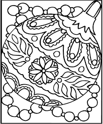 Christmas Ornaments Coloring Pages Ornament Sheets