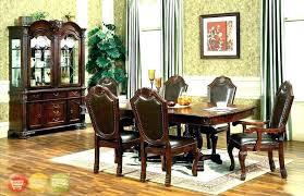 Formal Dining Table With Leather Chairs Casual 8 Room Set Marvelous