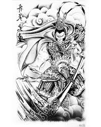 Great Sage Equalling Heaven Temporary Tattoo Paper Waterproof Sun Wukong Portrait Fake Arm Sleeve White