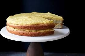 Swedish Almond Cake with Fluffy Custard Frosting