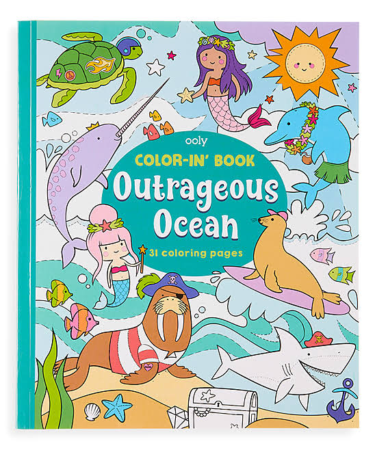 OOLY, Color-In' Book: Outrageous Ocean