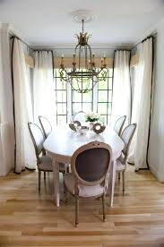 Extraordinary White Curtains Black Trim And French Dining Room