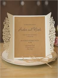 Rustic Laser Cut Wedding Invitation Cards With Band