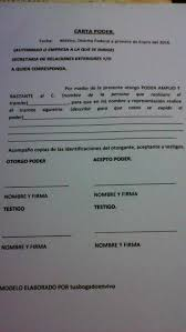 Carta Poder Tutorial YouTube