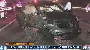 100 Tow Truck Accident FHP Drunk Driver Hits Kills Tow Truck Driver Loading Vehicle On