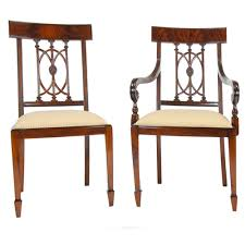 Mahogany Hepplewhite Chairs, Set Of 10 :: NDRAC033Z 4 Hepplewhite Style Mahogany Yellow Floral Upholstered Ding Chairs Style Ding Table And Chairs Pair George Iii Mahogany Armchairs Antique Set Of 8 English Georgian 12 19th Century Elegant Mellow Edwardian Design Antiques World 79 Off Wood Hogan Side Chair Eight Late 18th Of