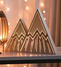 this handmade mountain range night light will add a touch of