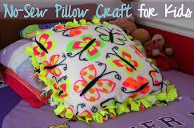 No Sew Pillow Craft For Kids A Modern Mrs