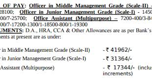 IBPS RRB Salary 2018 Gramin Bank Pay Scale of ficer & fice