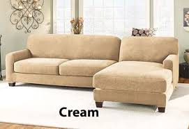 slipcover sectional sofa cover in durable stretch pique