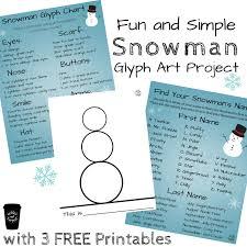 Snowman Art Project With Three Free Printables Perfect For The Classroom Homeschooling And Winter Thened