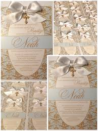 Baptism Decoration Ideas Pinterest by Baptism Invitations Madebyme Cute Baby Boy Baptism Invitations