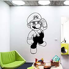 wandaufkleber schlafzimmer karikatur mario für