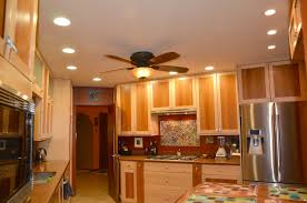 plans for recessed lighting in a kitchen with ceiling fan and