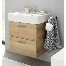 badezimmer badmöbel set 3 teilig riviera eiche quer