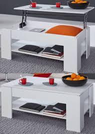 couchtisch wohnzimmer tisch klappbar esstisch weiß funktion stauraum höhe 46 70