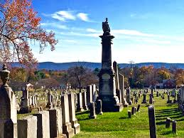 Wandering Through The Edge Hill Cemetery In Late Fall With Blue Ridge Mountains Off