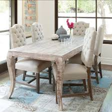 Dining Tables Grey Rustic Table Rectangle Wooden With Five White