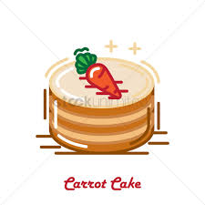 carrot cake vector graphic