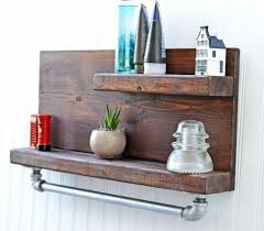 Bathroom Lighting For Bathrooms Vintage Metal Wall Shelf Carved Wood Shelves With Hooks And Cubbies Rustic