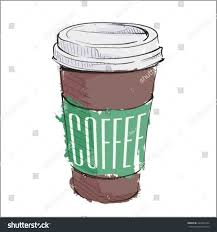 Coffee Cup Cartoon Reusable With Custom Vinylrhcosmicfrogsvinylcom How To Draw A Cute Easy Step By Drawing