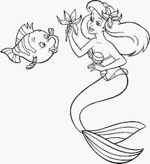 The Little Mermaid Free To Color For Kids The Little Mermaid Kids