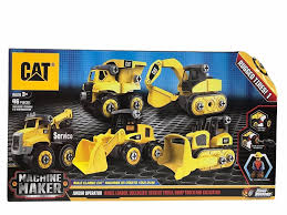 100 Cat Truck Toys CAT Machine Maker Junior Operator Building Set 46 Piece Car