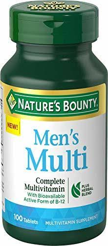 Nature's Bounty Men's Multi Complete Multivitamin - 100 Tablets