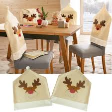 Luerme Christmas Chair Seat Back Covers Cute Elk Xmas Dining Chair ... Oval Back Ding Chair Covers Stills Home Garden Room Slipcovers Unique Christmas Santa Hat Party Xmas Table Twopiece Dning Chair Back Cover And Seat Cushion Buffalo Etsy Ding Room Covers Iloandsoldiersclub Kitchen Seating Parson Ikea Upholstery Door Revival Styles And Victorian Black Feeling Crafty Sewing Patterns For Bar Stool Henriksdal Plastic Seat Chairs Large Armless Architectural Design Your Chocoaddicts