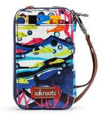Smartphone Wristlet Aqua Water Nation in at Sakroots
