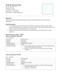 Mechanical Fresher Resume Samples Format Diploma