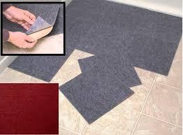 peel stick berber carpet tiles set of 10 gray by