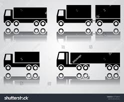 Big Truck Icon Set Abstract Easy Stock Vector (Royalty Free ...