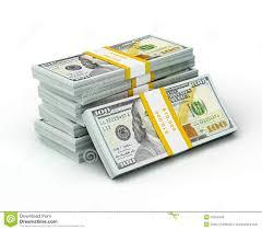 Background New 100 US Dollars Banknotes Bills Stock