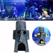 Spongebob Aquarium Decor Set by Home Fish Tank Aquarium Ornament Decorations Mini For Spongebob