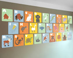 Alphabet Wall Cards 8 X 10 ABC Flash Kids Modern