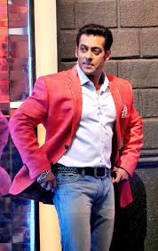salman khan looked dapper in a red blazer over a white shirt and
