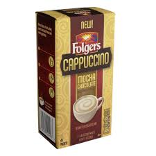 Folgers Cappuccino Mocha Chocolate Instant Coffee Packets