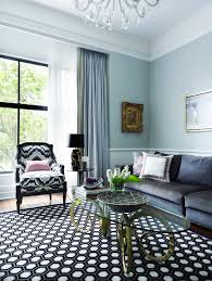 blue curtains living with hexagon living room transitional and
