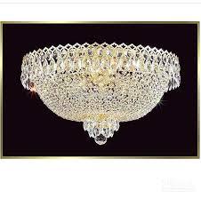 Flush Chandelier Ceiling Lights Fancy Crystal Modern Light Mount