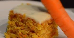 karottenkuchen mit frischkäsetopping
