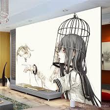 Cartoon Wall Mural Pigeon Girl Photo Wallpaper Modern Minimalist Anime Art Painting Room Decor Children Bedroom Tv Designer