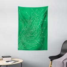 wandteppich wohnzimmer schlafzimmer wandtuch seidiges satin wandteppich abakuhaus rechteckig engineering thema computer chip kaufen otto