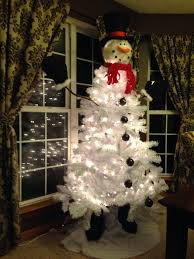 White Artificial Christmas Trees Walmart by Snowman Christmas Tree Snowman Tree Topper From Cracker Barrel