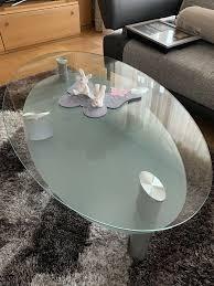 glastisch wohnzimmertisch wohnzimmer glas tisch oval