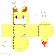 Template By On Intended For Templates Easy Paper Pokemon Papercraft Charizard