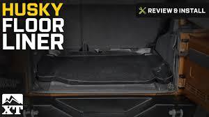 Jeep Jk Rugged Ridge Floor Liners by Jeep Wrangler Husky Floor Liner 2007 2016 Jk Review U0026 Install
