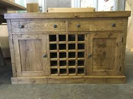 A Rustic Plank Dresser Base With Wine Rack BESPOKE FURNITURE AT AFFORDABLE PRICES