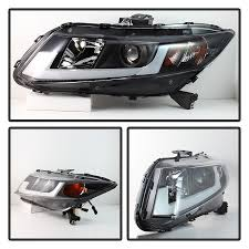 12 15 honda civic sedan 12 13 coupe led drl projector